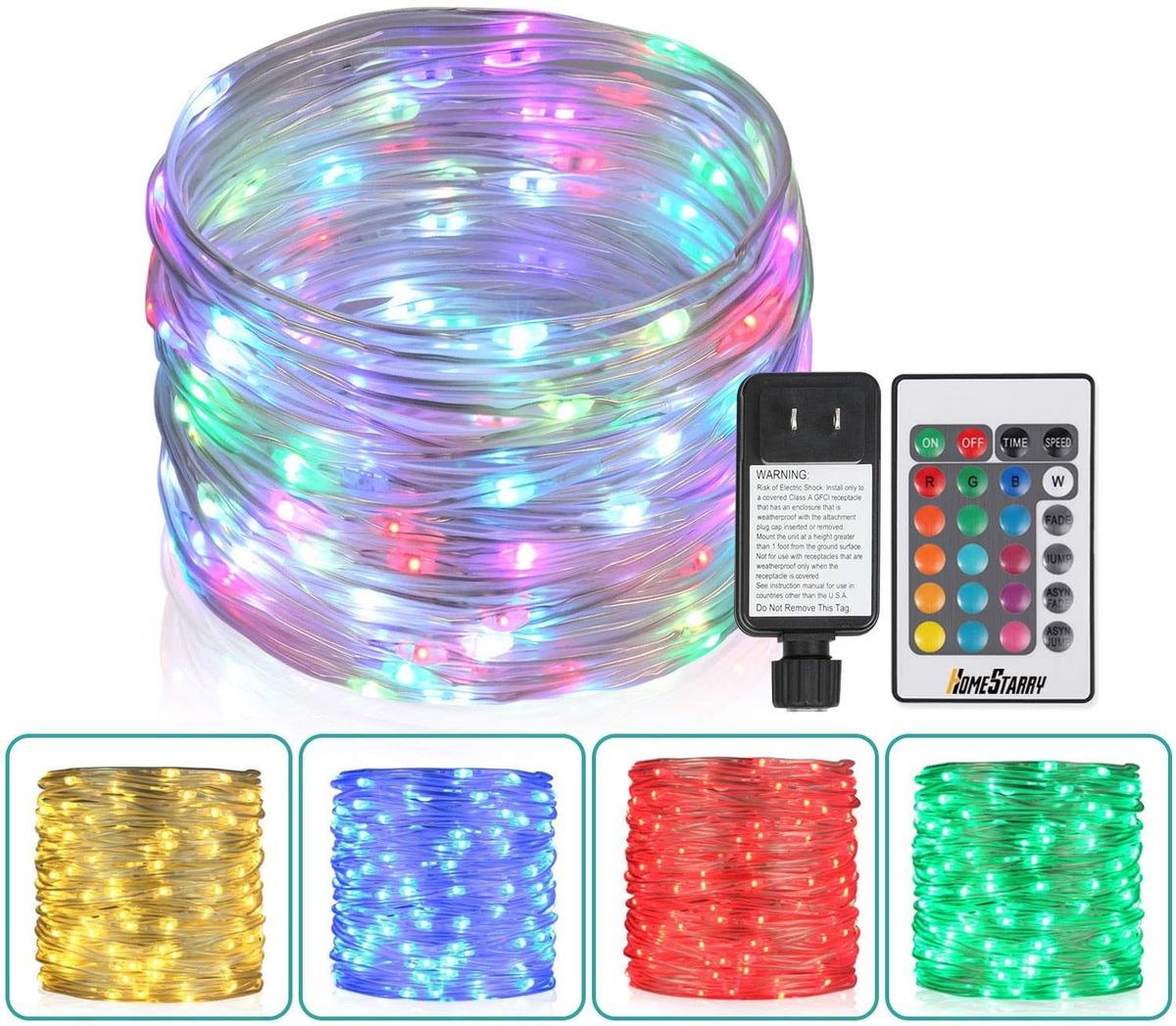 Ft Outdoor Led Rope Lights Christmas Fairy Lights Plug 160 900 En Mercado Libre