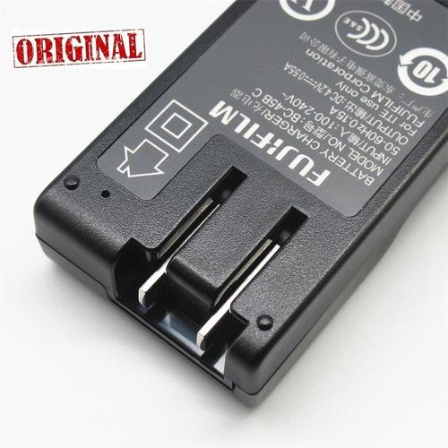 fu* carregador original baterias fujifilm p/ casio ex-zs150