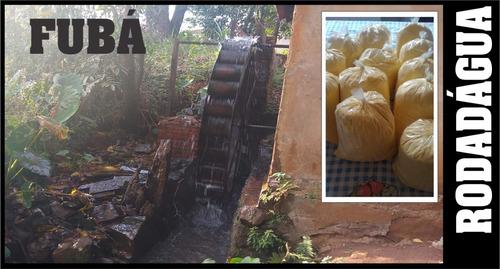 fubá 13kg caseiro rodadágua artesanal puro milho e qualidade