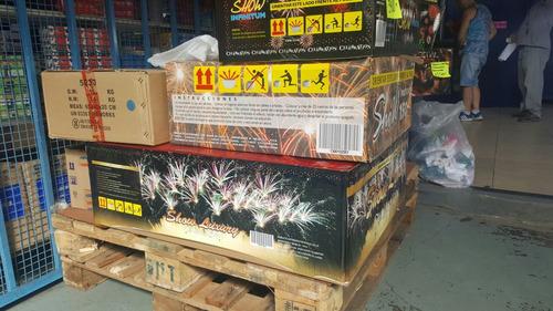 fuegos artificiales show profesional luxury 318 tiros