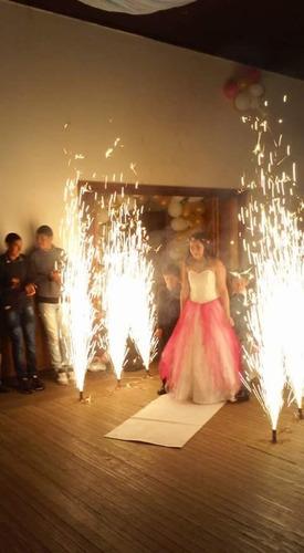 fuegos frios para interiores - pirotecnia - eventos - indoor