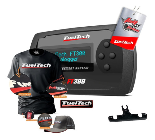 fueltech ft300 sem chicote + mega brinde+camiseta gel+bc