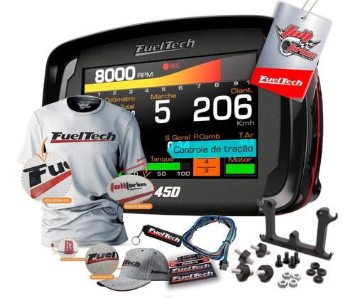 fueltech ft450 c/chicote 3m + ultra brinde camiseta b gel bb