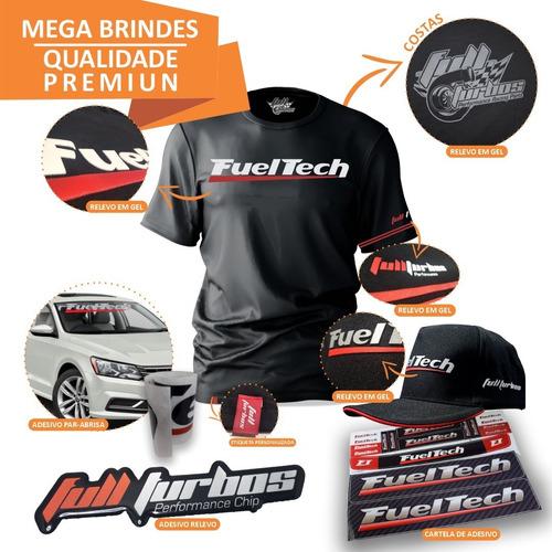 fueltech ft450 com chicote 3m + ultra brinde camiseta gel bp