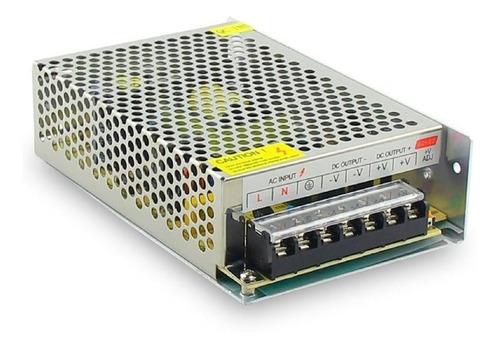 fuente 12v 10a metalica regulada switching tira led cctv