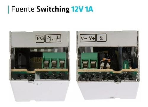 fuente 12v 1a metalica regulada switching tira led cctv