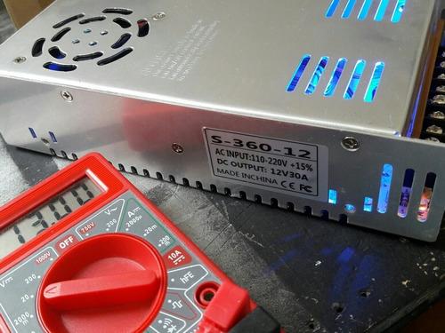 fuente 12v 30a - 33a 360w con voltimetro y envio gratis