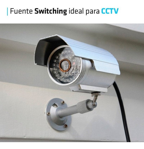 fuente 12v 3a metalica regulada switching tira led cctv