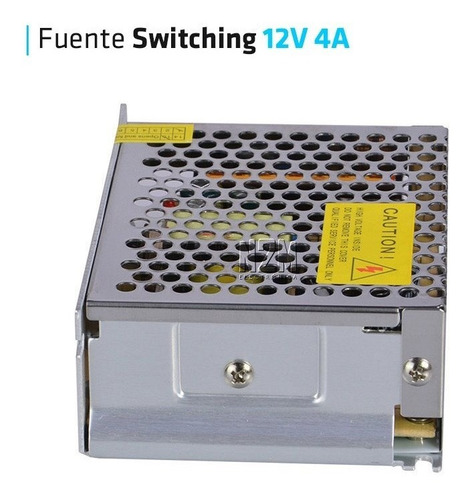 fuente 12v 4a metalica regulada switching tira led cctv