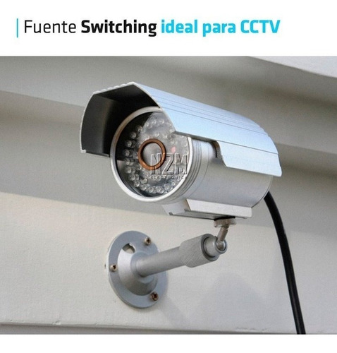 fuente 12v 6a plastica transformador switching tira led cctv