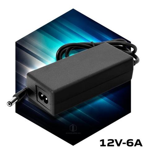 fuente 12v 6a transformador plastico switching tira led cctv