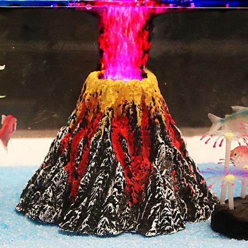 fuente acuario decoracion tanque pece volcan artificial