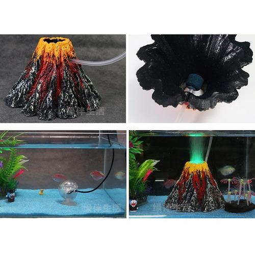 fuente acuario decoracion tanque pece volcan artificial cm