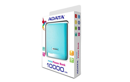 fuente alimentacion power bank portatil adata pv150 azul