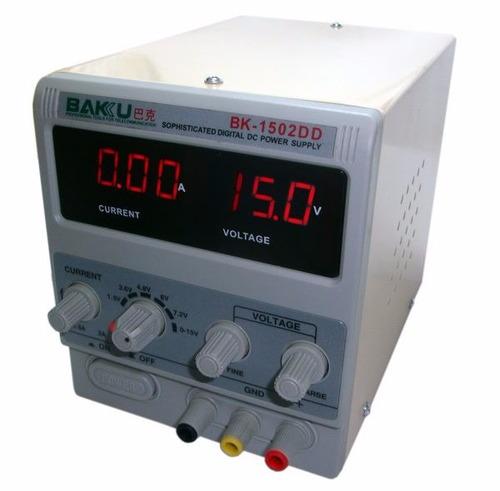 fuente alimentación regulable baku 15v 2v bk1502dd