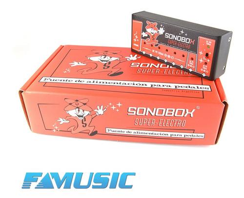 fuente alimentacion sonobox super-electro fuente multiple 8