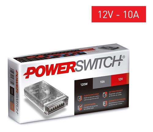 fuente alimentacion switching metalica cctv 12v 10a tira led