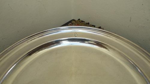 fuente antigua inglesa para torta bañada en plata mirala