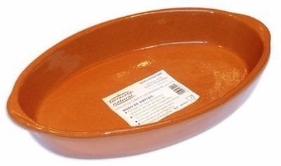 fuente asadera cerámica para horno 35x22cm españa imperdible