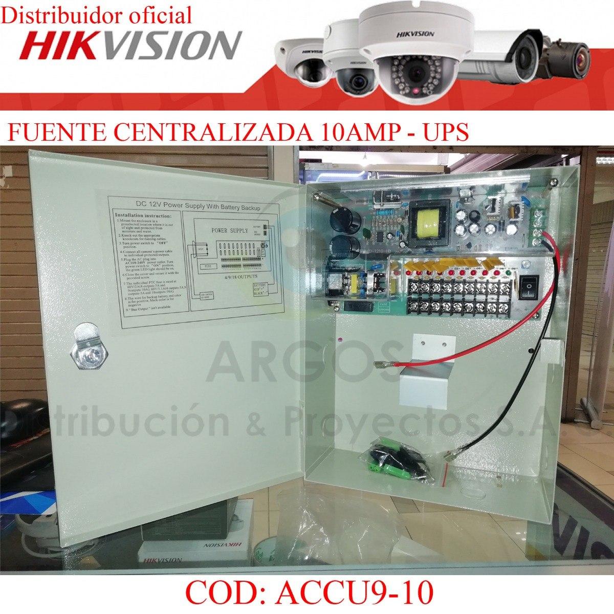 Fuente Centralizada Ups 10 Amp Cctv,alarma 9 Tomas