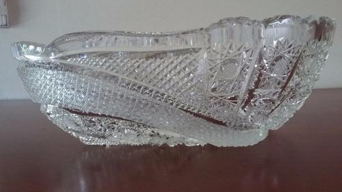 fuente centro de mesa de cristal tallado -1 pieza-