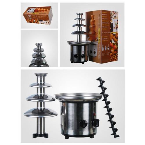 fuente chocolate chocolatera 4 niveles de acero para fiestas