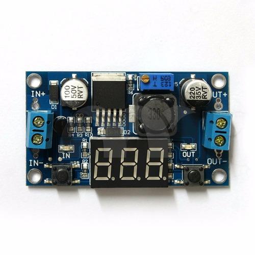 fuente convertidor lm2596 voltimetro arduino raspberry pi