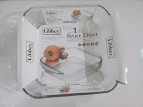 fuente cuadrada para horno libbey 1,7 litros
