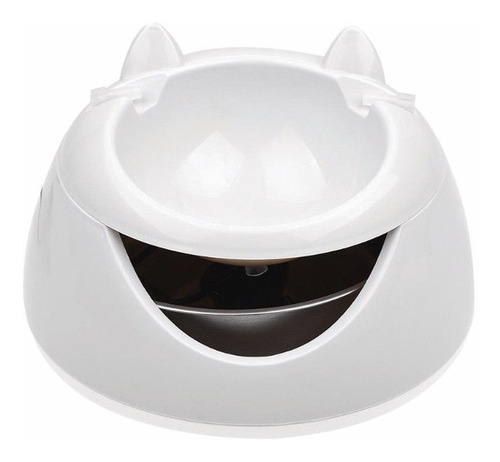 fuente de agua bebedero mascota gato blanco y verde