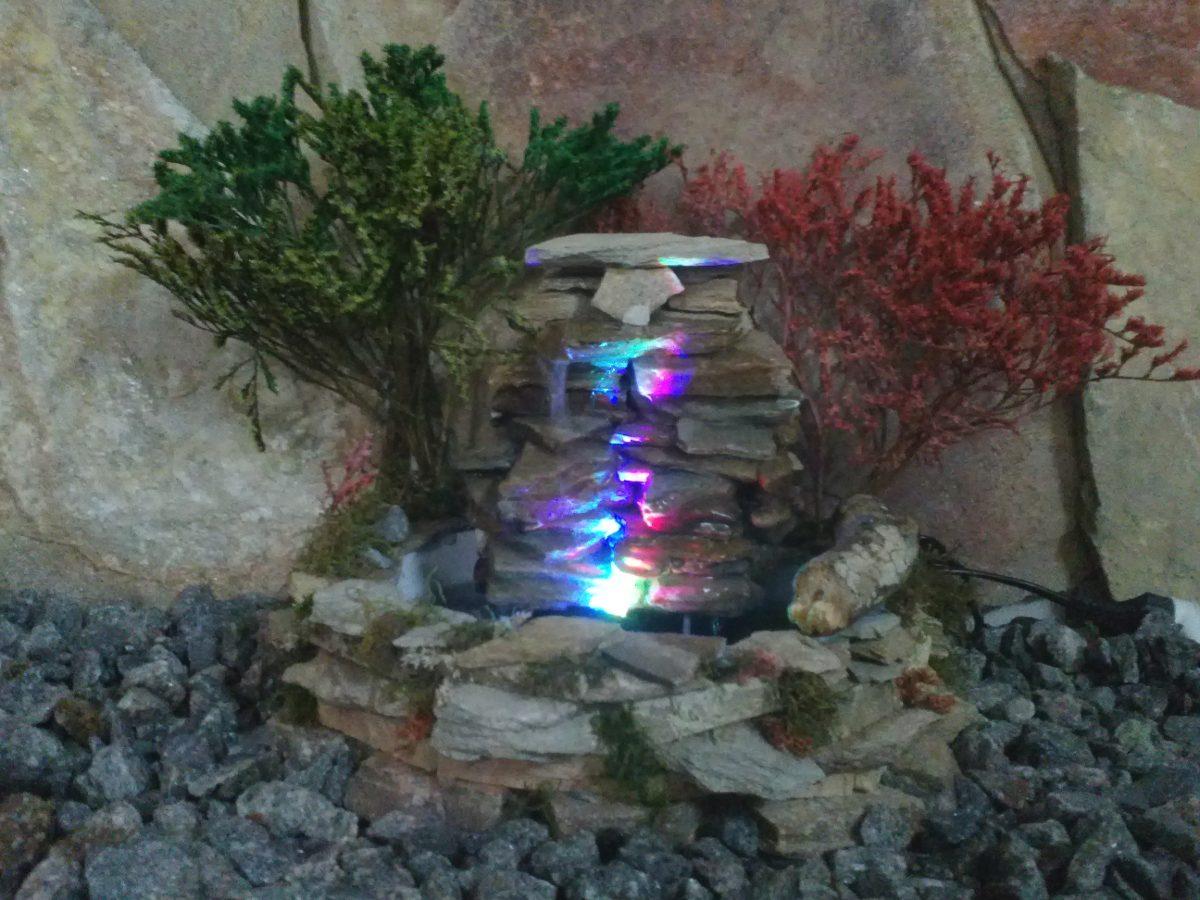 Fuente De Agua - Cascada En Piedra Natural Con Luz Led - $ 879,00 en ...