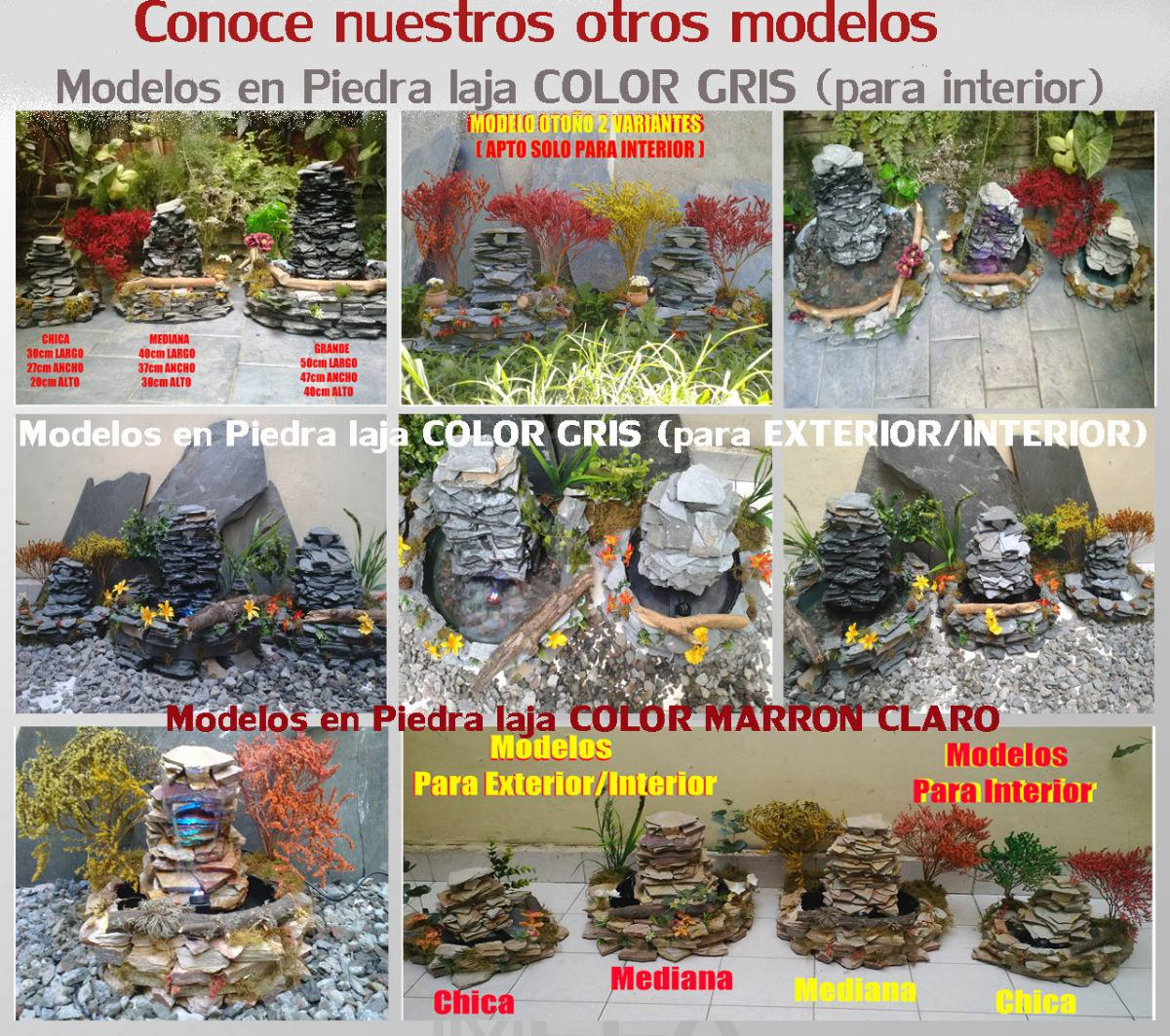 Fuente De Agua Cascada Mediana Piedra Natural Ideal Exterior