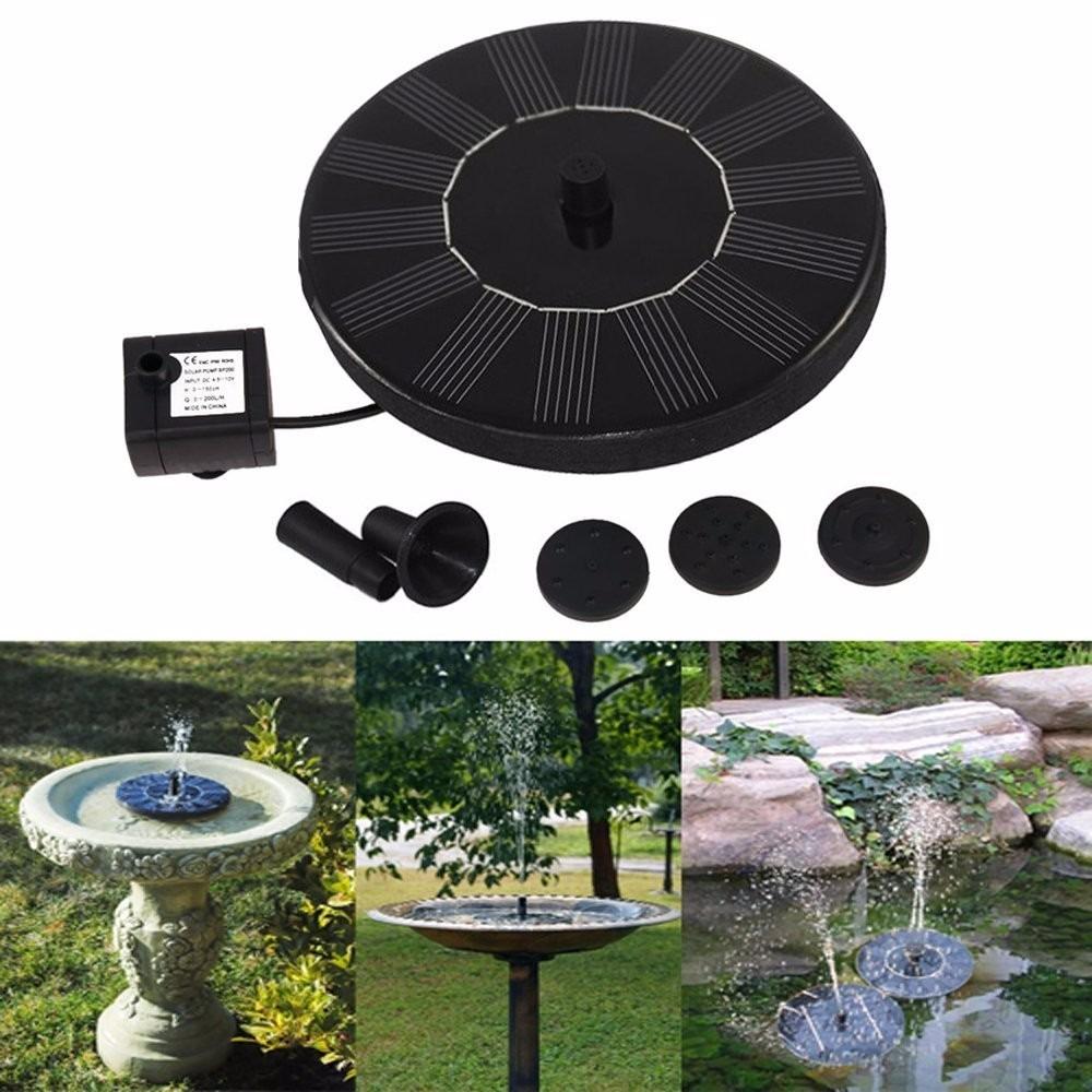 fuente de agua con panel solar ankway con bomba para. Black Bedroom Furniture Sets. Home Design Ideas