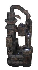 fuente de agua decorativa grande mystical rust