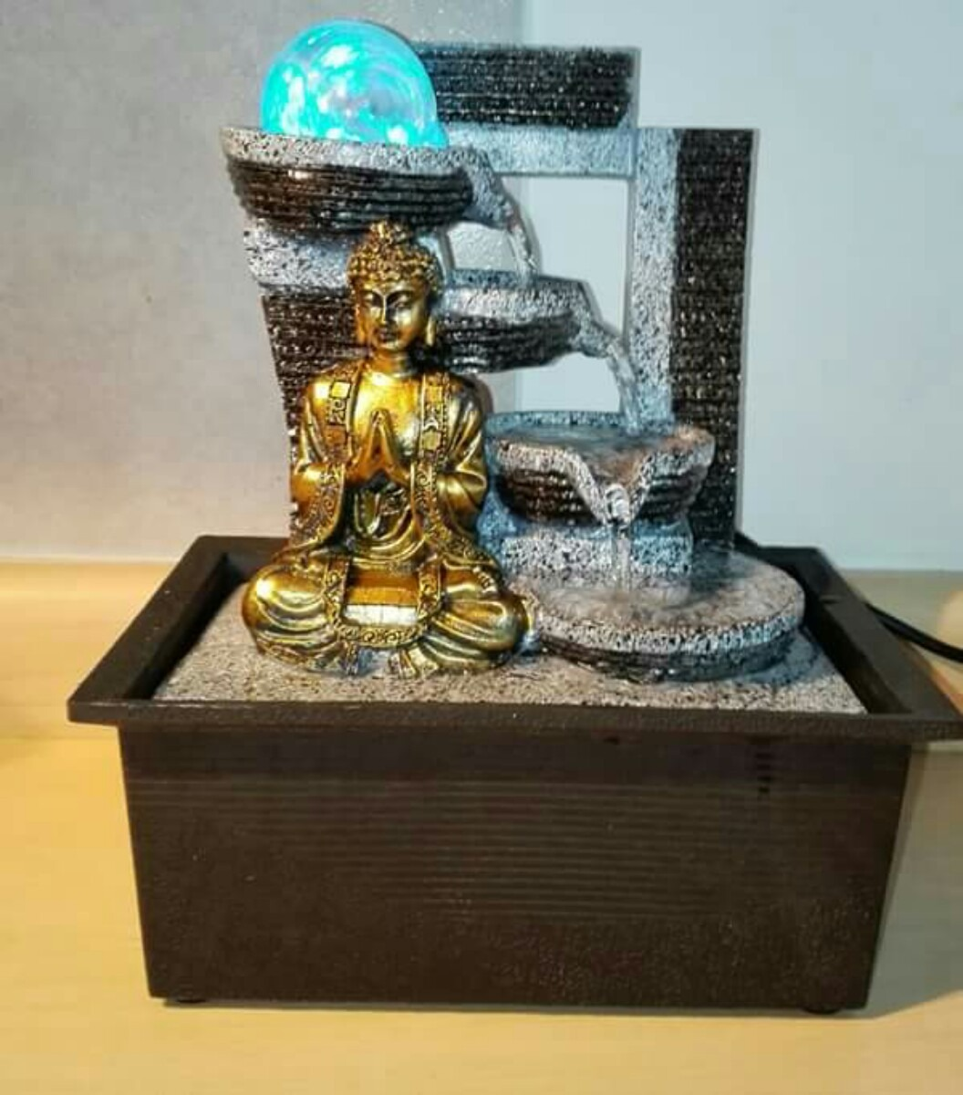 Fuente de agua interior ganesha feng shui yoga meditaci n - Motor de fuente de agua ...