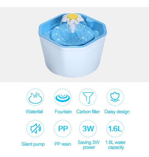 fuente de agua para gatos automática bebedero eléctrico para