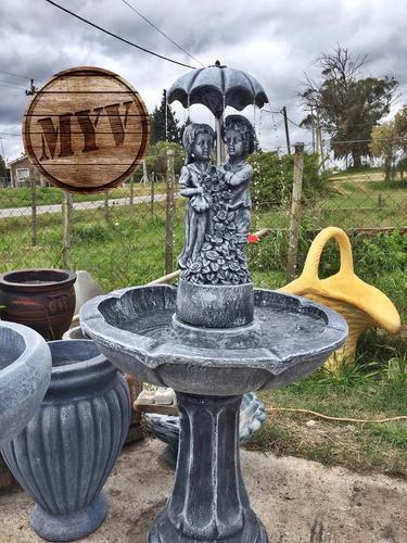 fuente de agua para jardín con niños decoración
