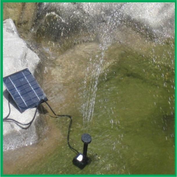 Fuente de agua solar para jardin alberca estanque 320 for Kit estanque jardin