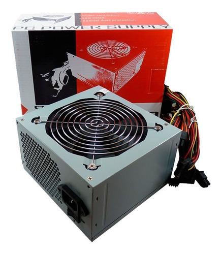 fuente de alimentacion atx kelyx 500w cooler 120mm + cable