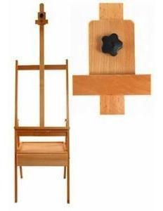 fuente de arte escolar portatil artista h-marco de madera de