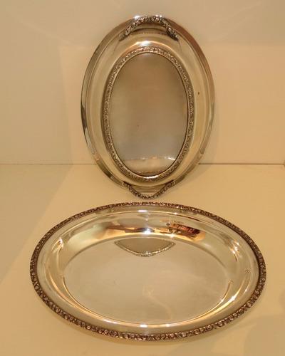 fuente de bronce triple baño de plata. el restaurador
