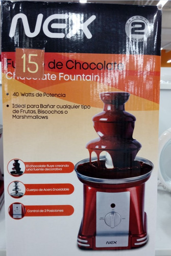 fuente de chocolate 2 pisos nex original