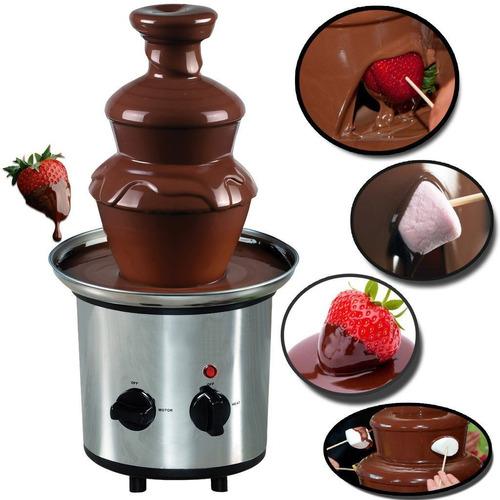 fuente de chocolate 3 niveles en acero inoxidable