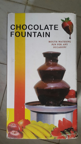 fuente de chocolate acero inoxidable