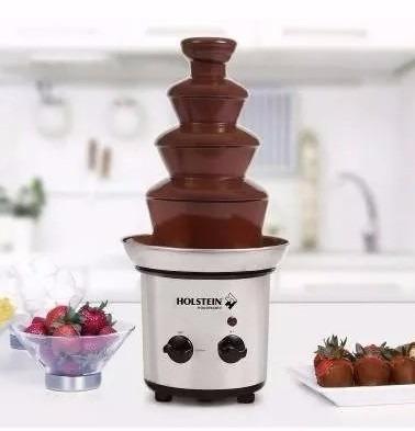 fuente de chocolate chamoy fondue 4 niveles holstein cromada