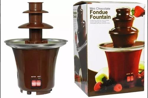 fuente de chocolate fondue fountain 3 niveles mini nueva