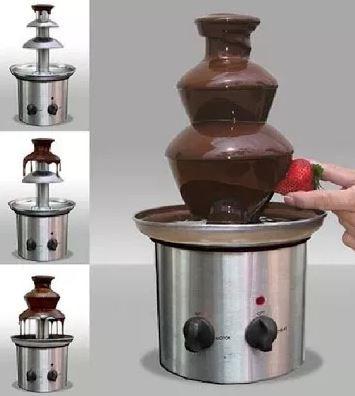 fuente de chocolate grande totalmente en acero inoxidable