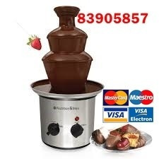 fuente de chocolate, granizadoras, palomitas, romanas