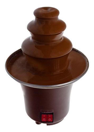 fuente de chocolate míni de 3 niveles
