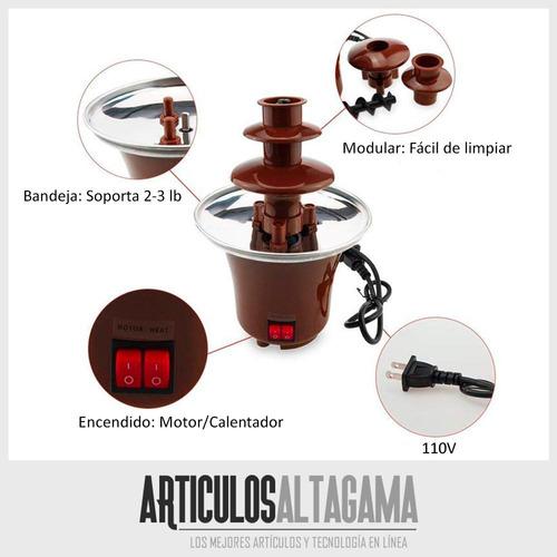 fuente de chocolate mini de 3 niveles fondue electrica