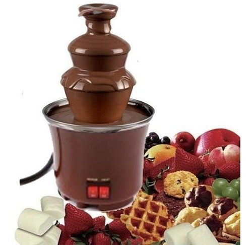 fuente de chocolate mini de 3 niveles fondue fountain
